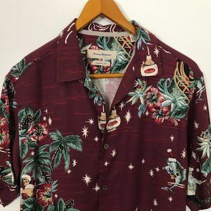 Tommy Bahama Short Sleeve M Holiday Floral Silk